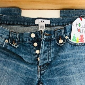 AX Armani a exchange jeans button fly